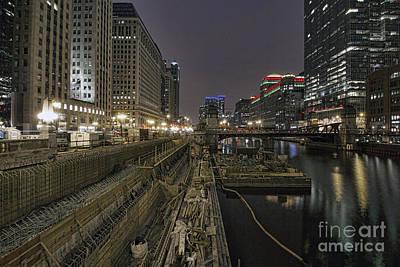 Photograph - Riverwalk Construction by Steven K Sembach