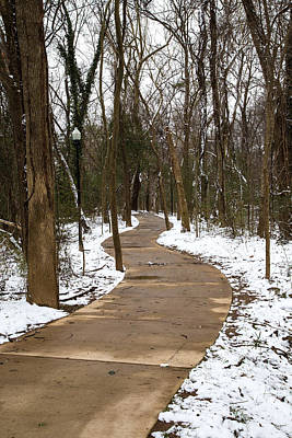 Photograph - Riverwalk In The Snow by Charles Hite