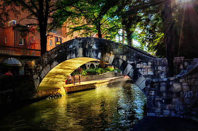 Riverwalk In The Sun Art Print by Tricia Marchlik