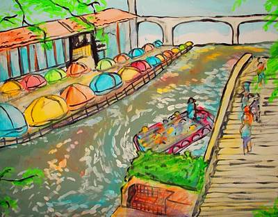 Painting - Riverwalk by Marisela Mungia