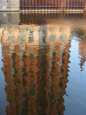 Riverwalk Reflection Art Print by Anita Burgermeister