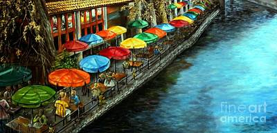 Painting - Riverwalk San Antonio by Anna-maria Dickinson