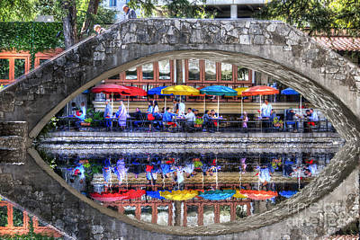 Photograph - Riverwalk San Antonio Texas Canal by Dan Friend