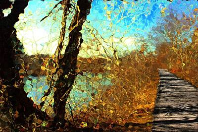 Mixed Media - Riverwalk by Terence Morrissey