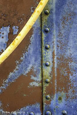 Photograph - Rivet Abstraction by Fran Gallogly