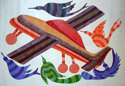 Gond Tribal Art Painting - Rkt 01 by Ravi Kumar Tekam