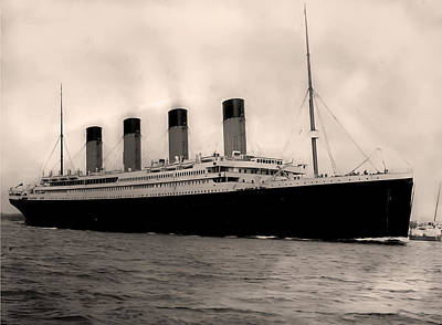 Rms Titanic Photograph - Rms Titanic by Bill Cannon