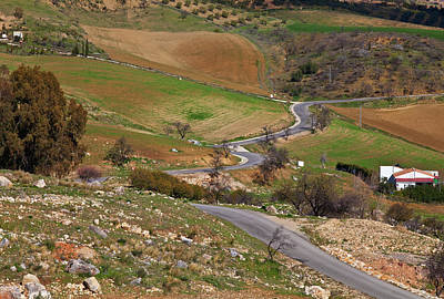 Farmscape Photograph - Road Across Farmland At The Edge Of El by Panoramic Images