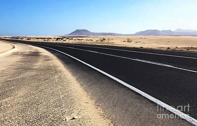 Corralejo Photograph - Road Across The Desert by Brigida Soriano