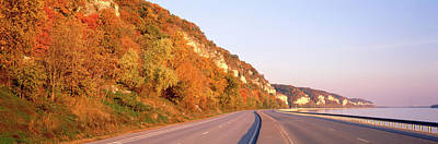 Road Along A River, Great River Road Art Print by Panoramic Images