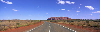 Road And Ayers Rock Australia Art Print by Panoramic Images