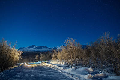 Cold Temperature Photograph - Road And Landscape, Cold Temperatures by Panoramic Images