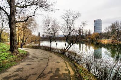 Photograph - Road And Pond by Oleksandr Maistrenko