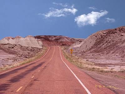 Photograph - Road Curves by R B Harper