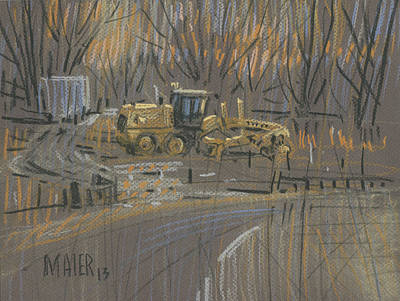 Painting - Road Grader by Donald Maier