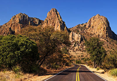 Photograph - Road Into Chisos Mountains by Daniel Woodrum