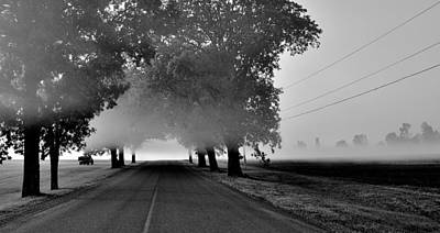 Road Into Morning Mist - Canada Art Print