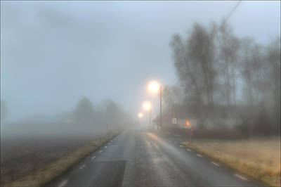 Asphalt Photograph - Road Into The Fog by EXparte SE