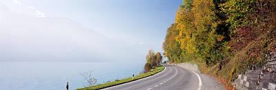 Road, Lake, Brienz, Switzerland Art Print by Panoramic Images