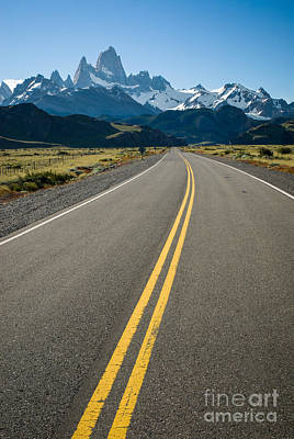 Road Leading To Fitz Roy In Patagonia Art Print by OUAP Photography