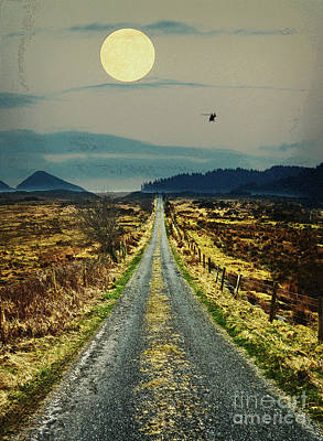 Helicopter Mixed Media - Road Less Traveled  by Celestial Images