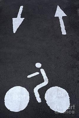 Asphalt Photograph - Road Marking by Bernard Jaubert