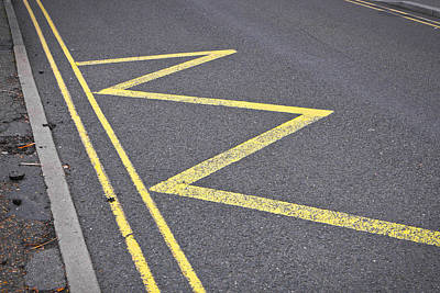 Forbidden Photograph - Road Markings by Tom Gowanlock