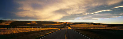 Road, Montana, Usa Art Print by Panoramic Images