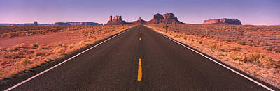 Road Monument Valley  Az Usa Print by Panoramic Images