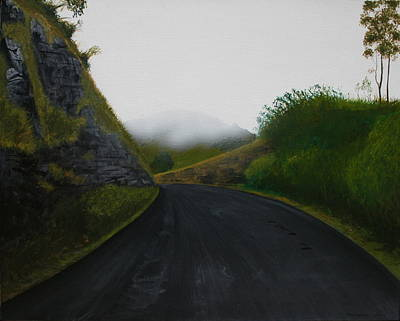 Painting - Road Near Gresford Nsw by Tim Mullaney