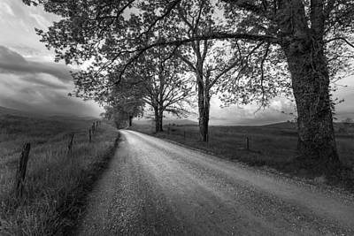 Cades Cove Photograph - Road Not Traveled by Jon Glaser