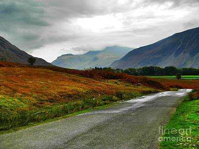 Photograph - Road Of The Cumbrian Mountain Pass by Joan-Violet Stretch