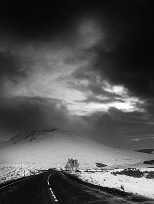 Heavy Weather Digital Art - Road Out Of Glencoe by Keith Thorburn LRPS