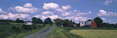 Road Passing Through A Farm, Emmons Art Print