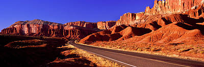 Capitol Reef National Photograph - Road Passing Through Capitol Reef by Panoramic Images