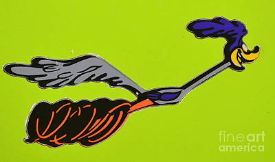 Photograph - Road Runner Emblem by Mark Spearman