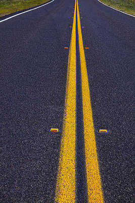 Us Open Photograph - Road Stripe  by Garry Gay