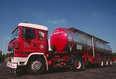 Tanker Wall Art - Photograph - Road Tanker Used For Bulk Haulage Of Liquids by Adam Hart-davis/science Photo Library
