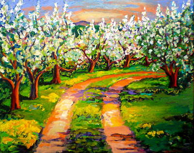 Mt. Monadnock Painting - Road Through The Orchard by Carol Keiser