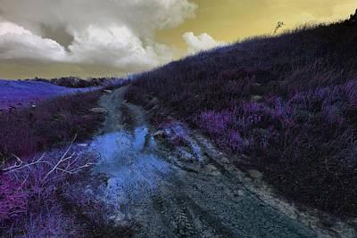 Eerie Digital Art - Road To A Lemon Sky. by Linda Unger