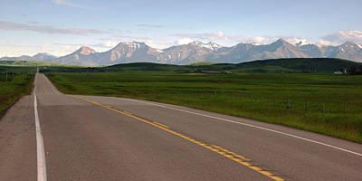 Photograph - Road To Alberta's Rockies by Daniel Woodrum