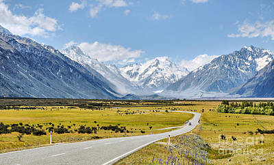 Road To Aoraki Print by Delphimages Photo Creations