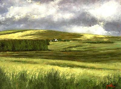 Wall Art - Painting - Road To Ardara by Jim Gola