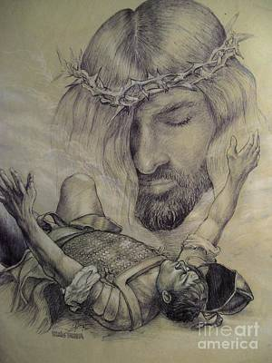 Jesus Christ Drawing - Road To Damascus by Craig Green