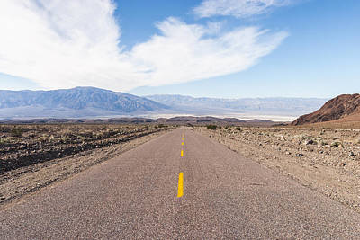 Road To Death Valley Print by Muhie Kanawati