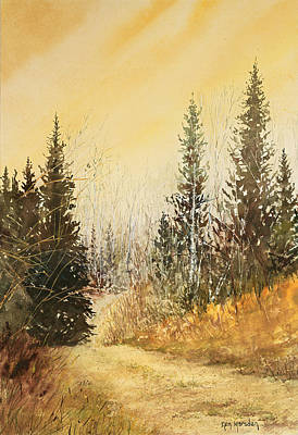 Painting - Road To Ed's Cabin-autumn by Ken Marsden