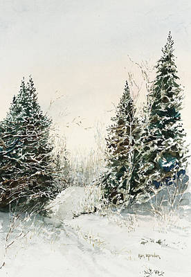 Painting - Road To Ed's Cabin-winter by Ken Marsden
