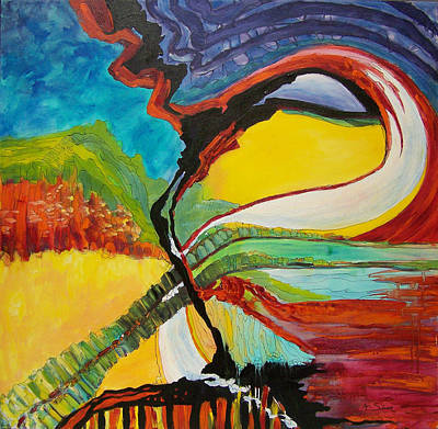 Abstract Wall Art - Painting - Road To Glory by Mtnwoman Silver