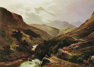Percy Painting - Road To Loch Turret by Celestial Images