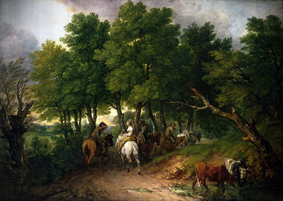 Mixed Media - Road To Market Painting by Thomas Gainsborough